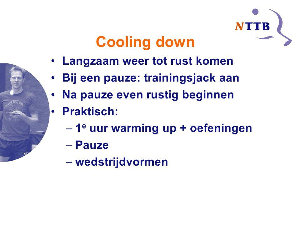 Cooling down Langzaam weer tot rust komen