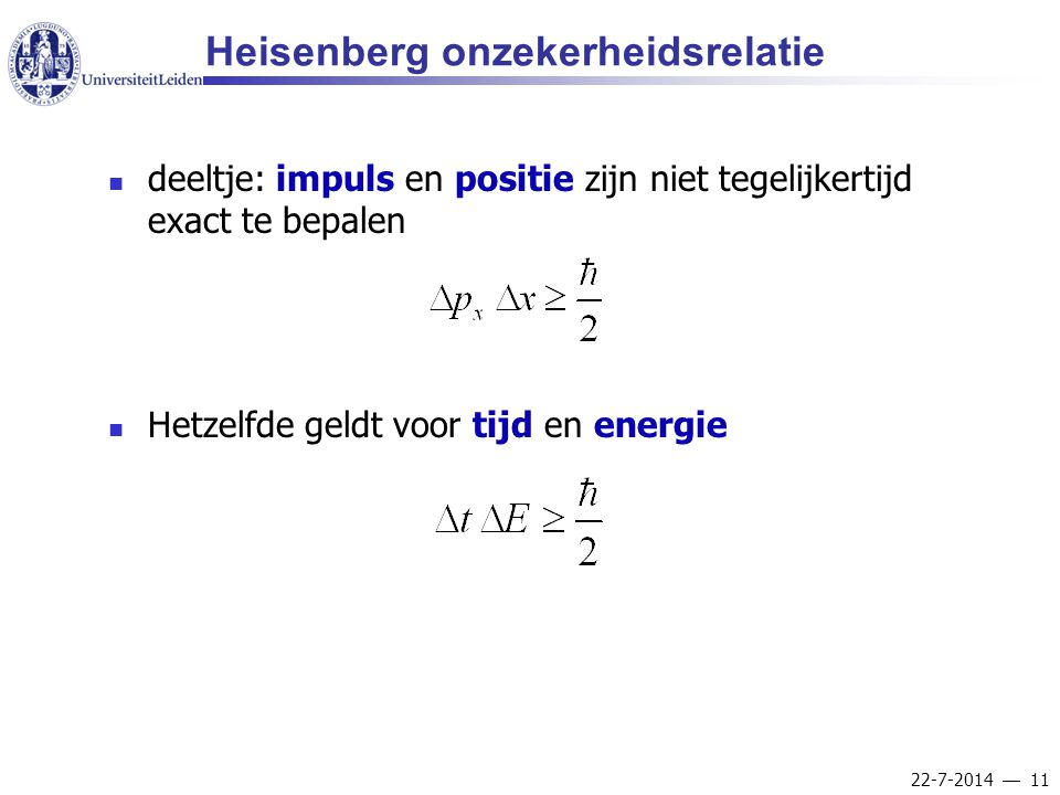 Heisenberg onzekerheidsrelatie