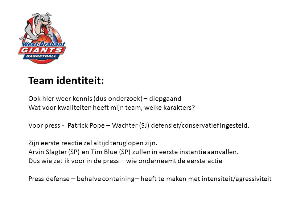 Team identiteit: Ook hier weer kennis (dus onderzoek) – diepgaand