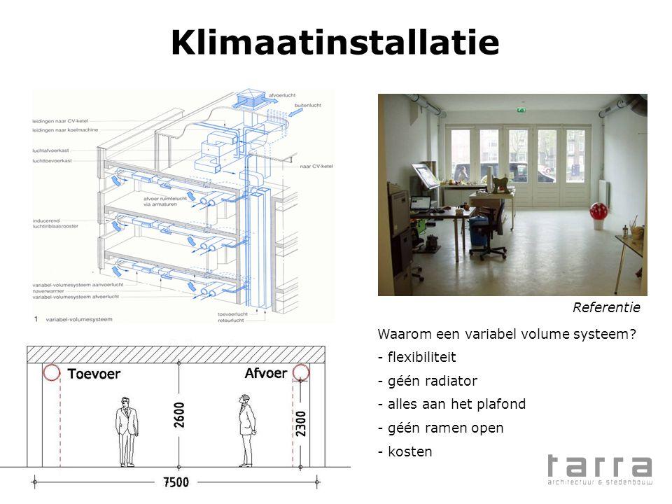 Klimaatinstallatie Referentie Waarom een variabel volume systeem