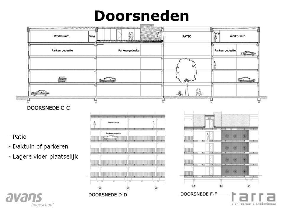 Doorsneden Patio Daktuin of parkeren Lagere vloer plaatselijk