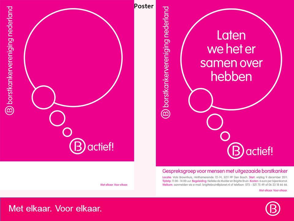 Met elkaar. Voor elkaar. Poster \4. Financiele afhandeling