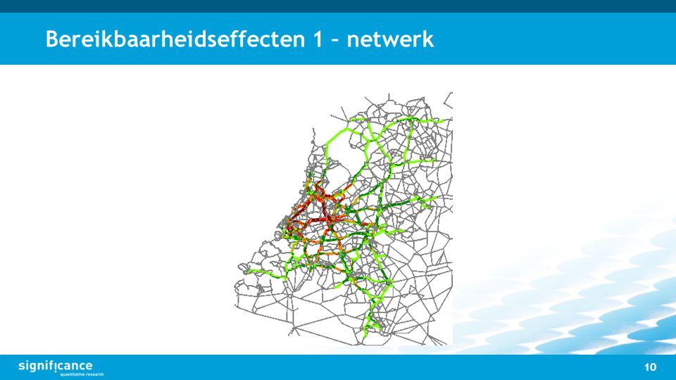 Bereikbaarheidseffecten 1 – netwerk