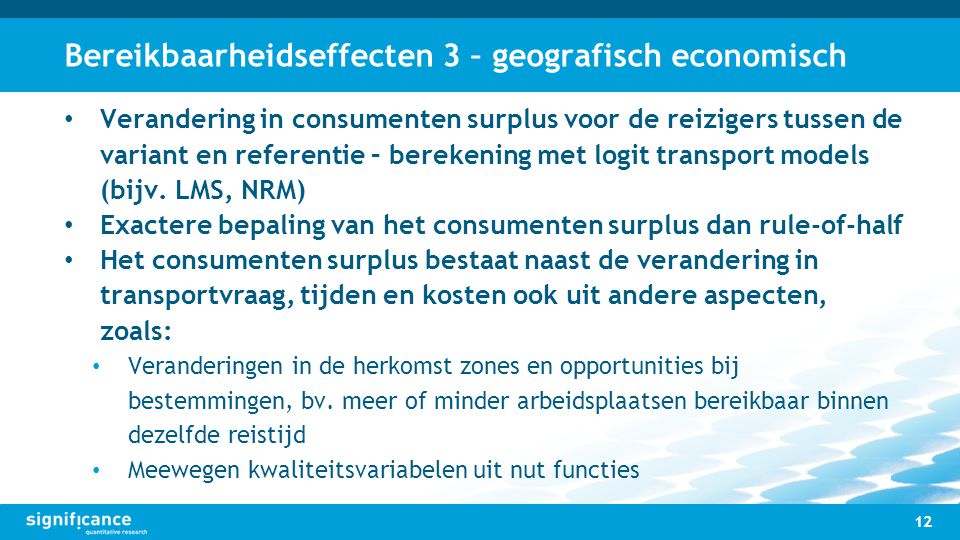 Bereikbaarheidseffecten 3 – geografisch economisch