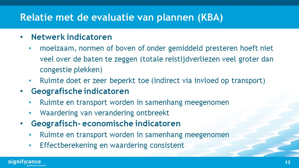 Relatie met de evaluatie van plannen (KBA)