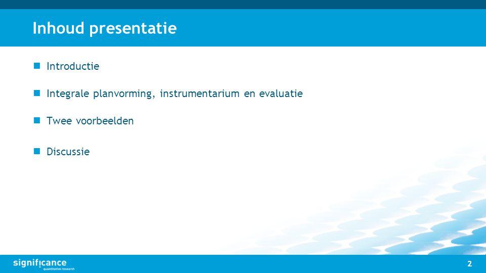 Inhoud presentatie Introductie