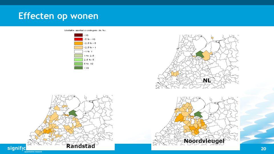 Effecten op wonen NL Noordvleugel Randstad