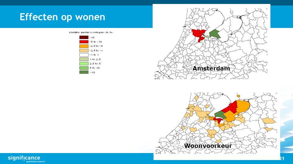 Effecten op wonen Amsterdam Woonvoorkeur