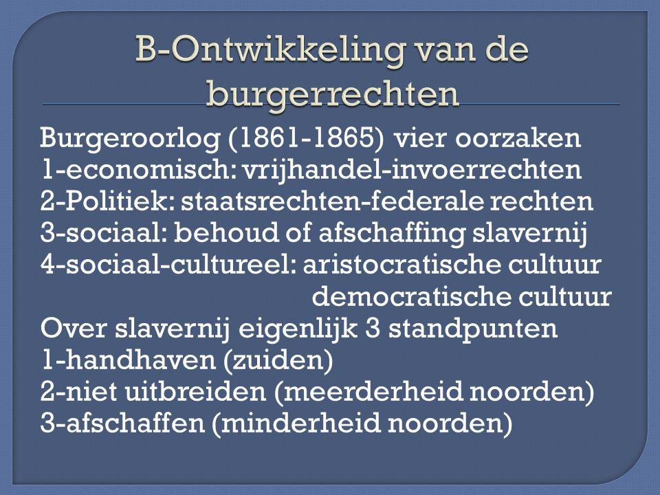 B-Ontwikkeling van de burgerrechten
