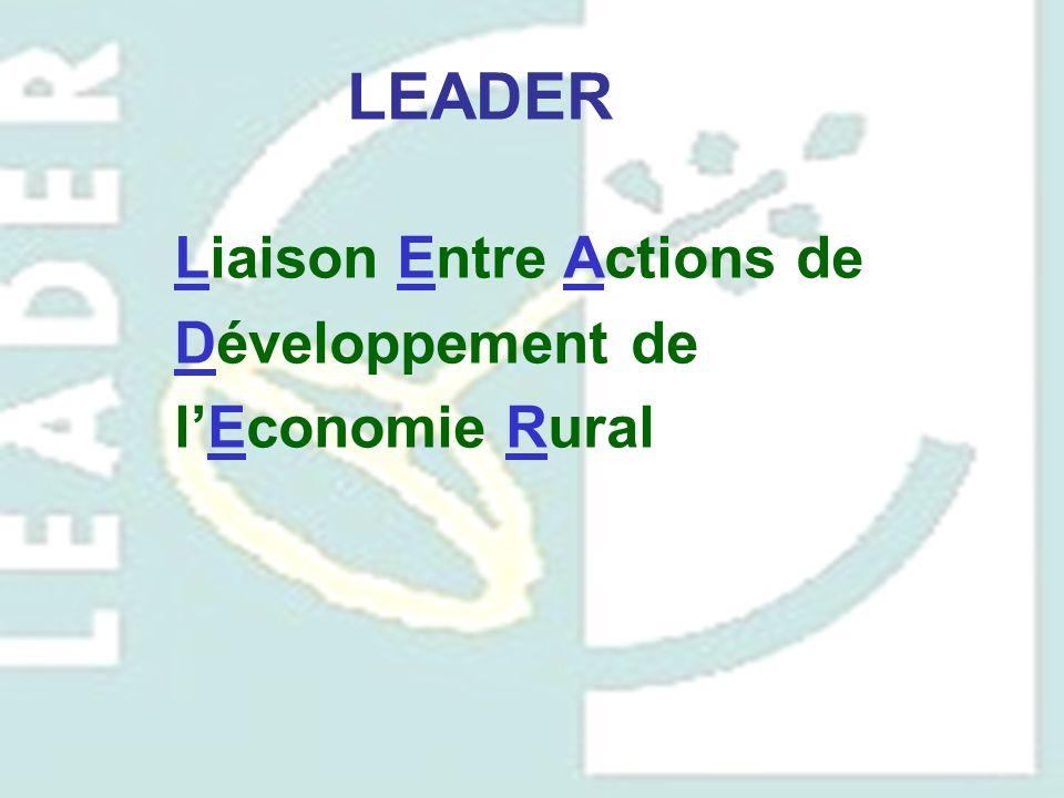 LEADER Liaison Entre Actions de Développement de l'Economie Rural
