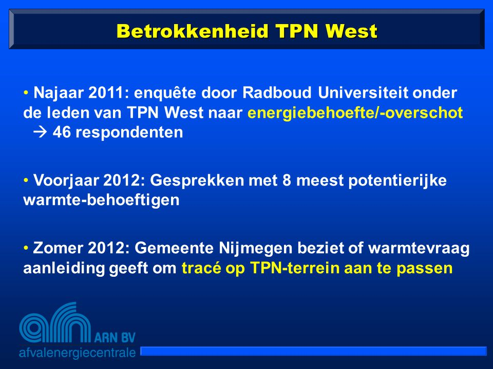 Betrokkenheid TPN West