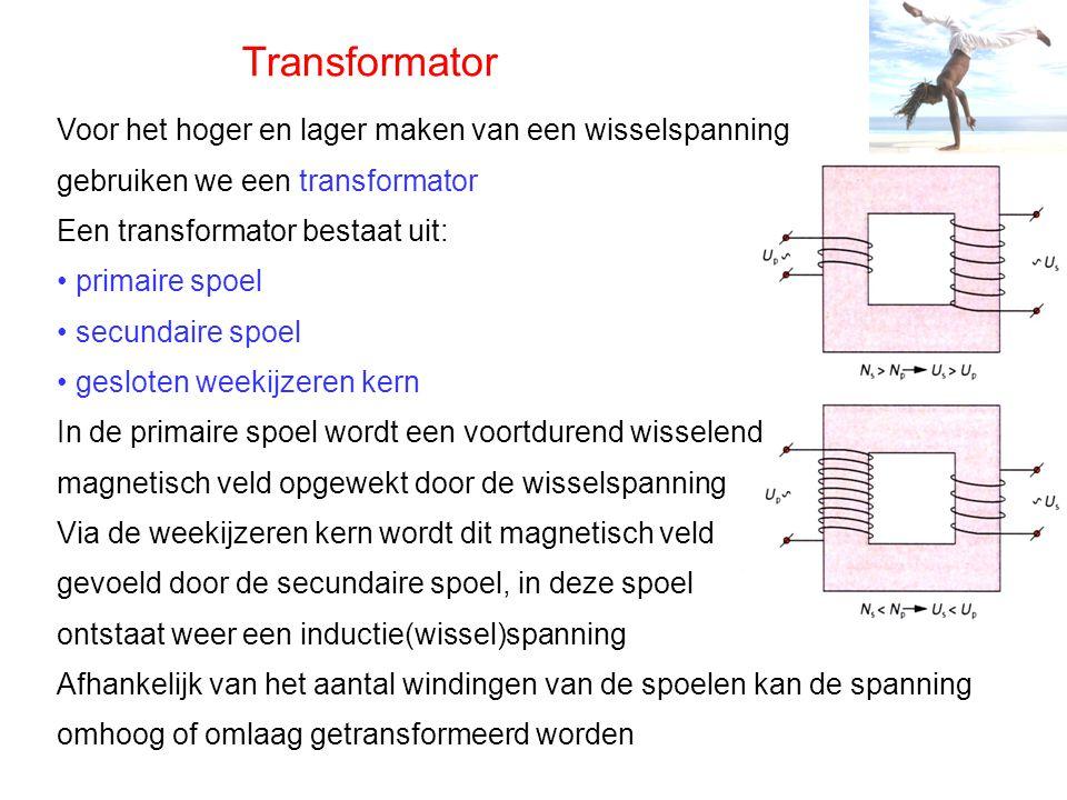 Transformator Voor het hoger en lager maken van een wisselspanning