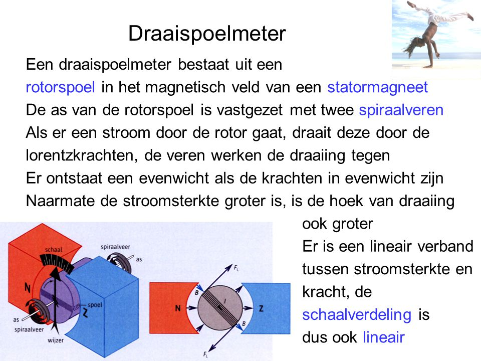 Draaispoelmeter Een draaispoelmeter bestaat uit een