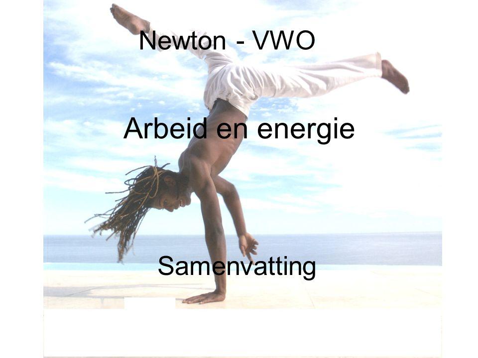 Newton - VWO Arbeid en energie Samenvatting