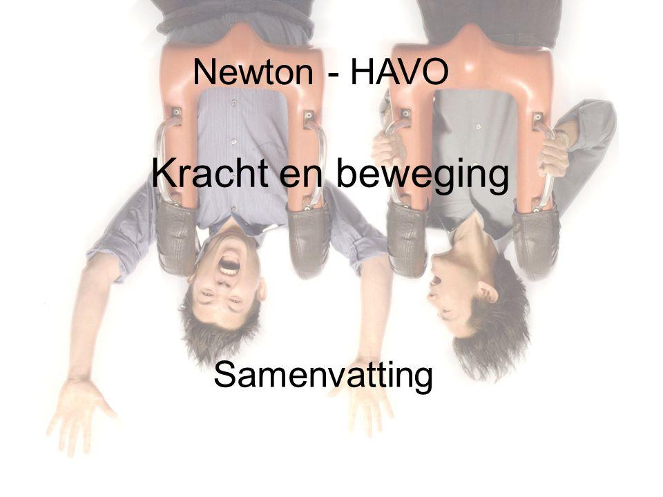 Newton - HAVO Kracht en beweging Samenvatting