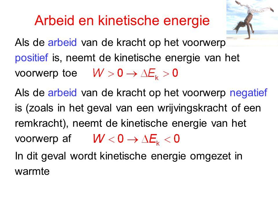 Arbeid en kinetische energie