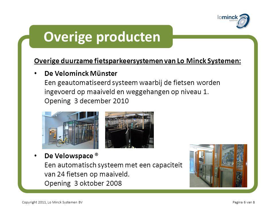 Overige producten Overige duurzame fietsparkeersystemen van Lo Minck Systemen: De Velominck Münster.