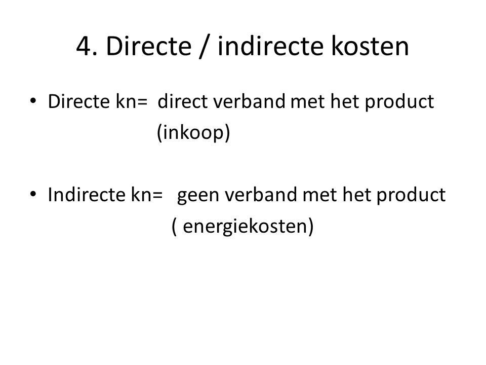 4. Directe / indirecte kosten