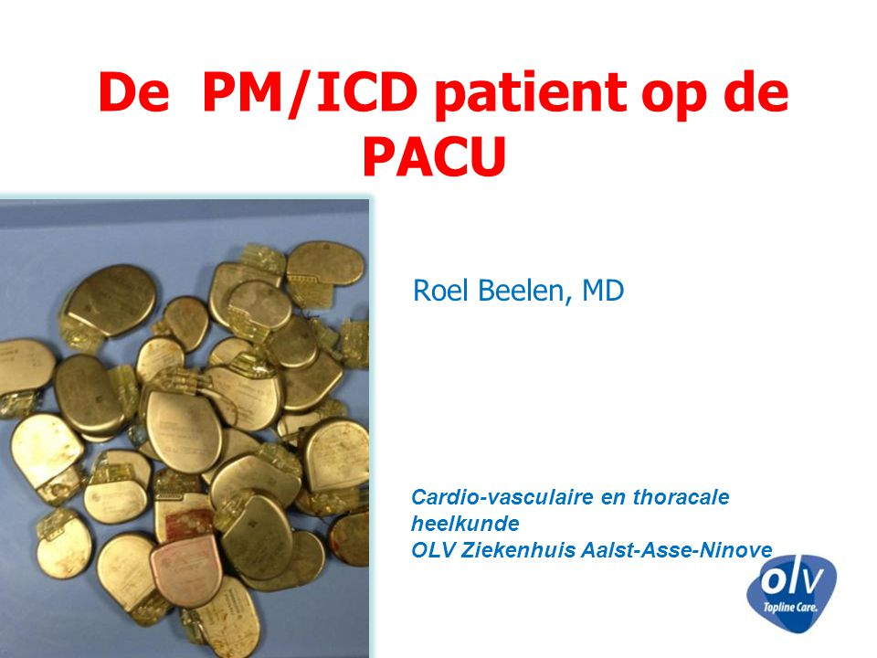De PM/ICD patient op de PACU