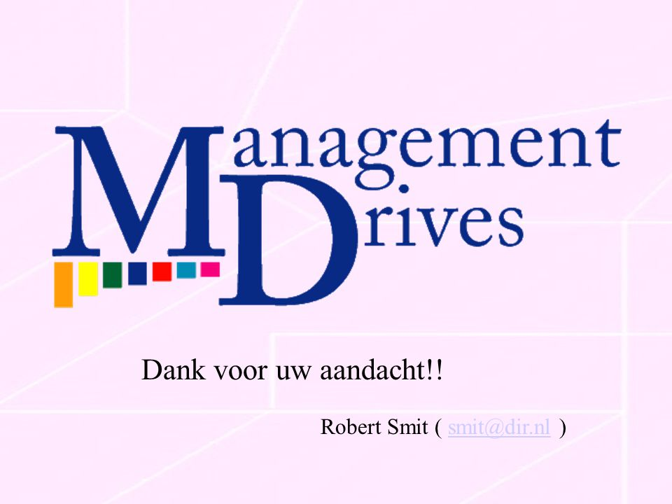 Dank voor uw aandacht!! Robert Smit ( smit@dir.nl )