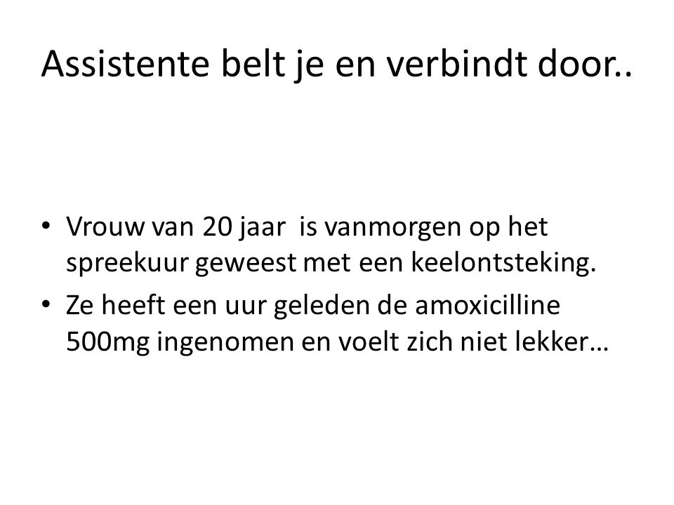 Assistente belt je en verbindt door..