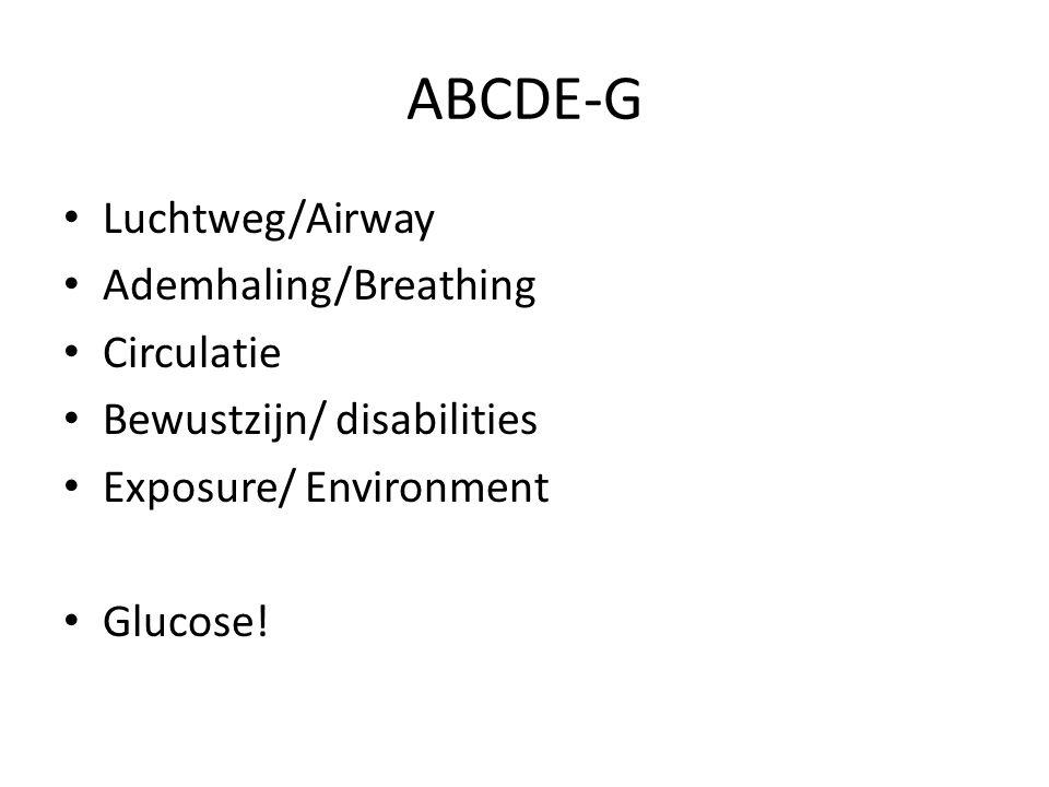 ABCDE-G Luchtweg/Airway Ademhaling/Breathing Circulatie