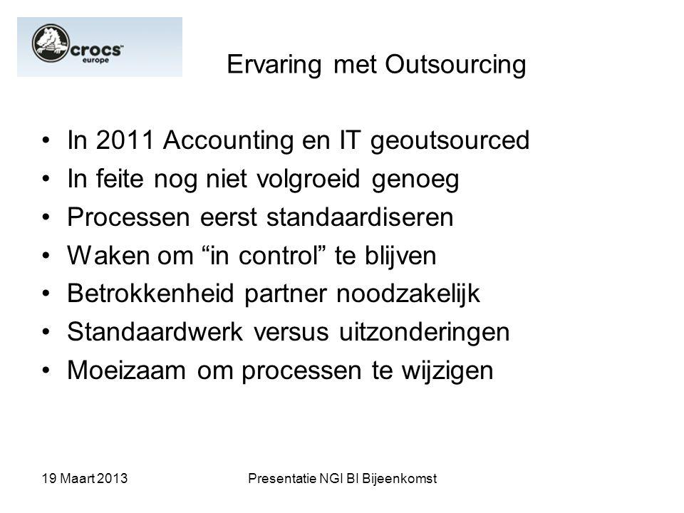 Ervaring met Outsourcing