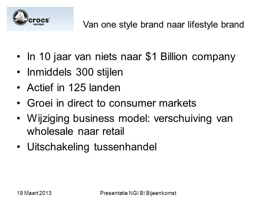 In 10 jaar van niets naar $1 Billion company Inmiddels 300 stijlen
