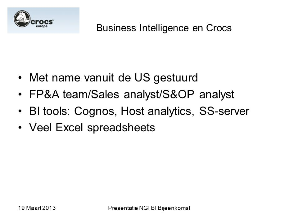 Business Intelligence en Crocs