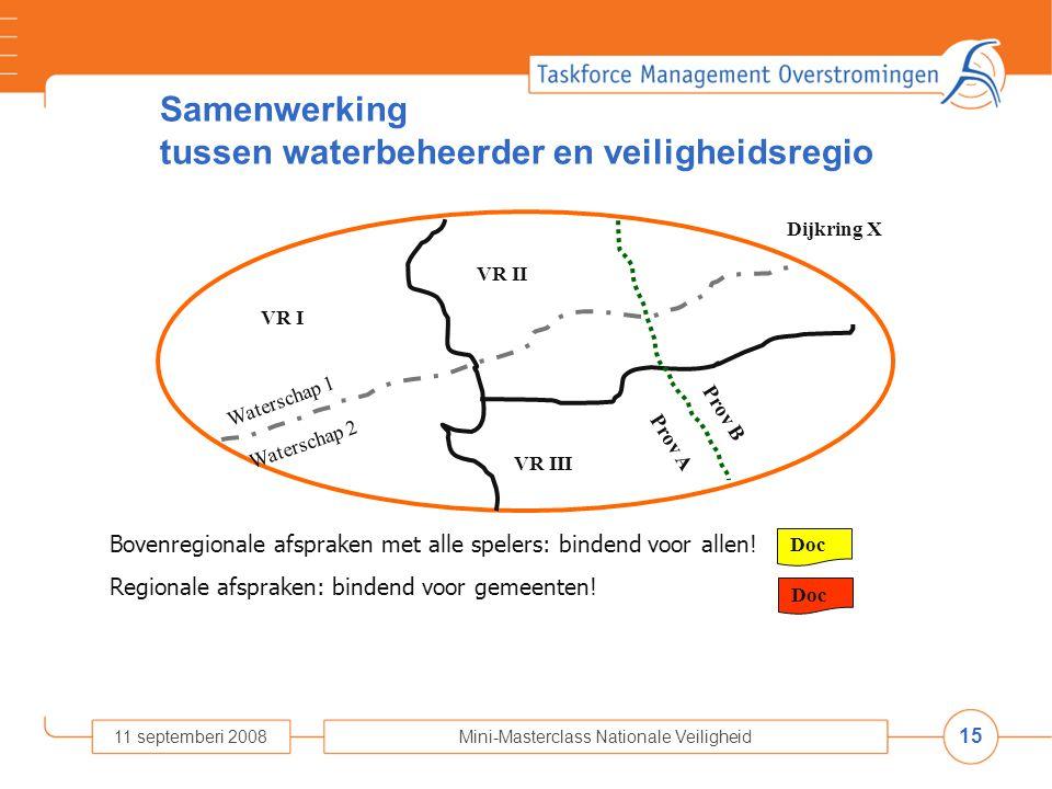 Samenwerking tussen waterbeheerder en veiligheidsregio