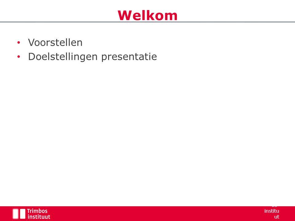 Welkom Voorstellen Doelstellingen presentatie