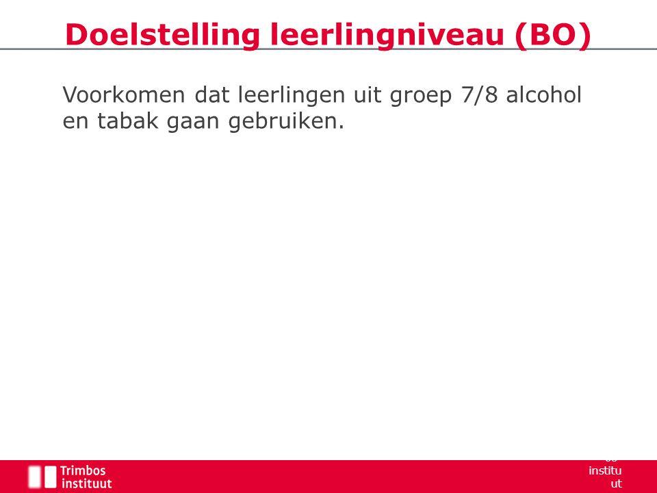 Doelstelling leerlingniveau (BO)