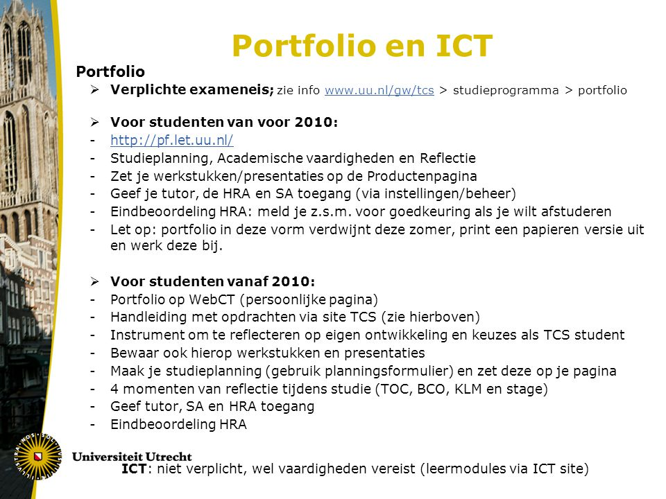Portfolio en ICT Portfolio