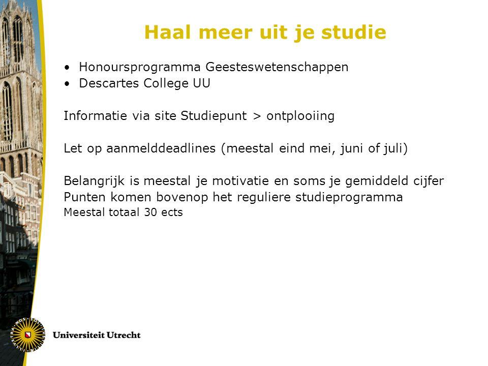 Haal meer uit je studie Honoursprogramma Geesteswetenschappen