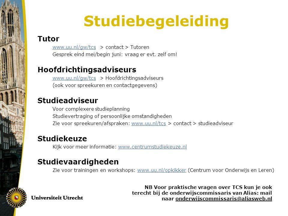 Studiebegeleiding Tutor Hoofdrichtingsadviseurs Studieadviseur