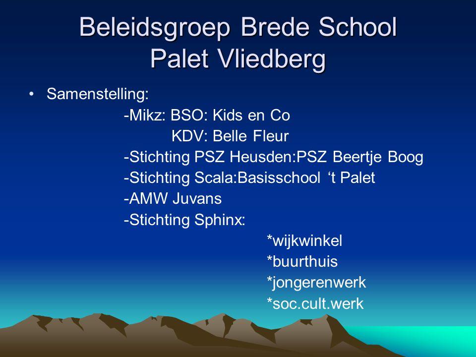 Beleidsgroep Brede School Palet Vliedberg