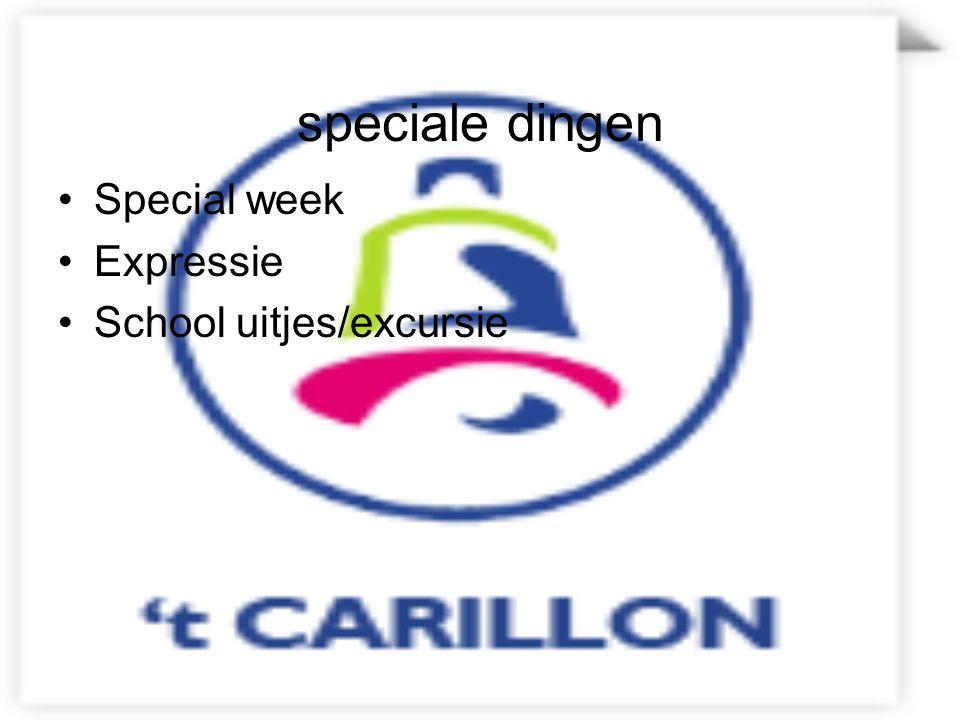 speciale dingen Special week Expressie School uitjes/excursie