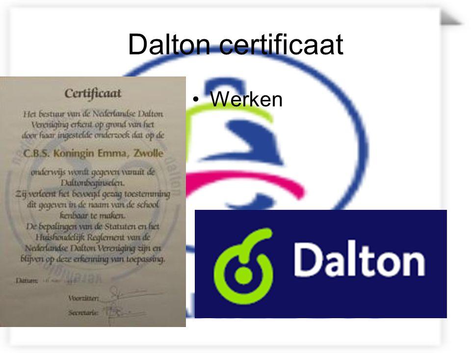 Dalton certificaat Werken