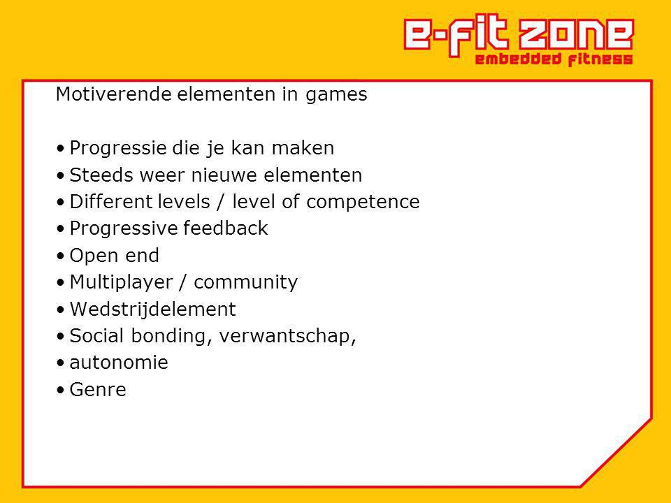 Motiverende elementen in games