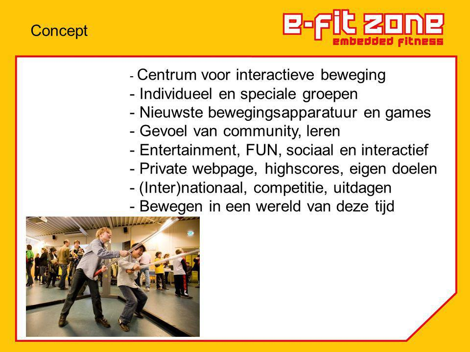 Individueel en speciale groepen Nieuwste bewegingsapparatuur en games
