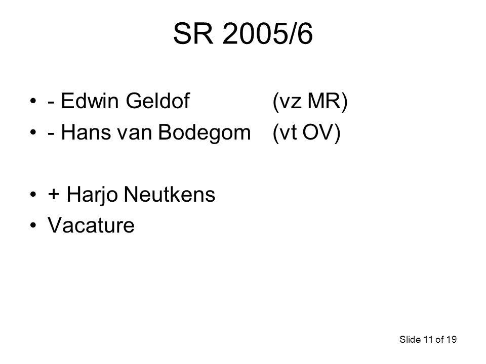 SR 2005/6 - Edwin Geldof (vz MR) - Hans van Bodegom (vt OV)