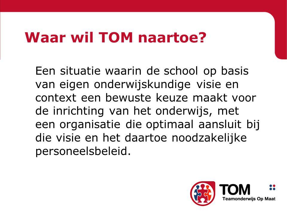 Waar wil TOM naartoe