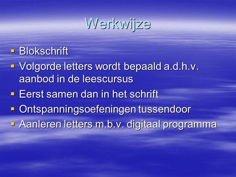 Werkwijze Blokschrift