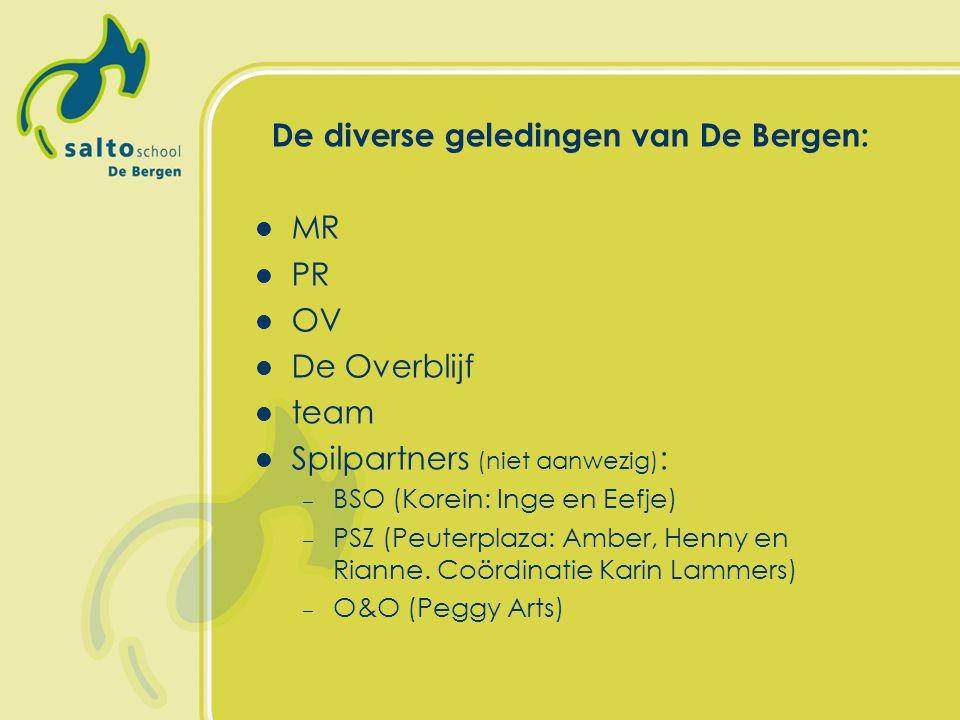 De diverse geledingen van De Bergen: