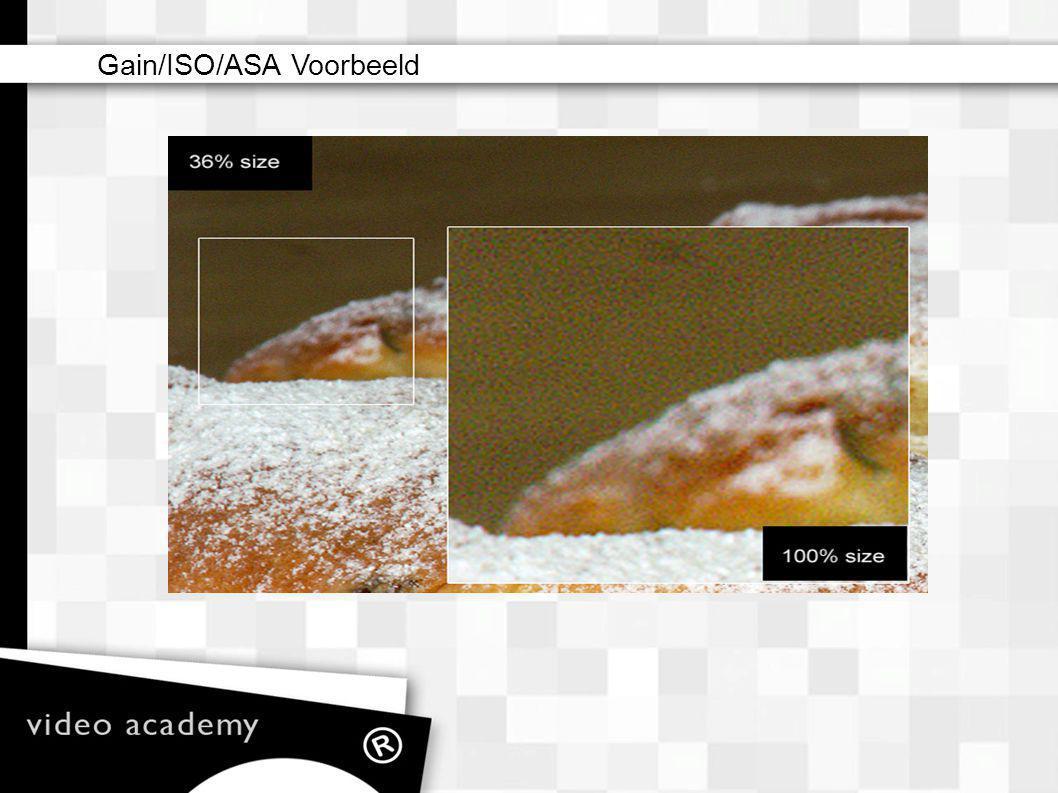 Gain/ISO/ASA Voorbeeld