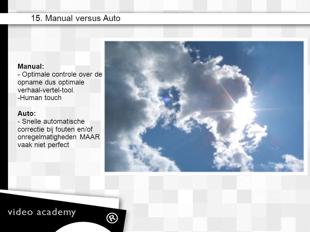 15. Manual versus Auto Manual: