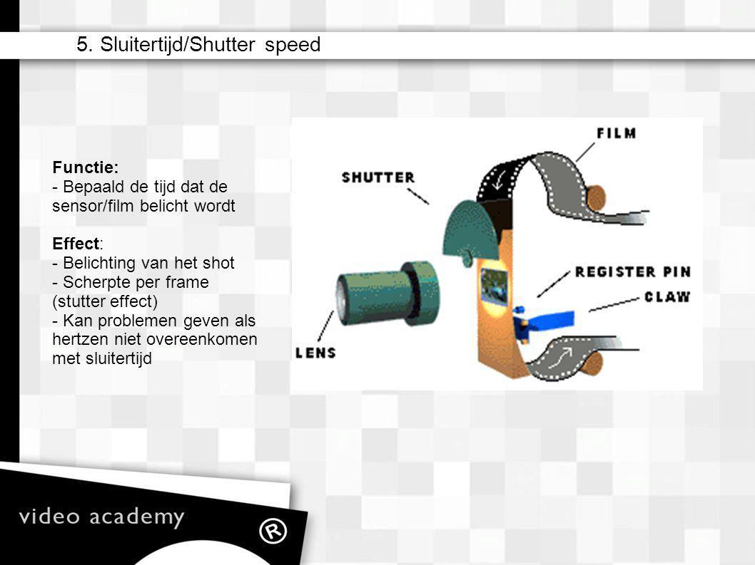 5. Sluitertijd/Shutter speed