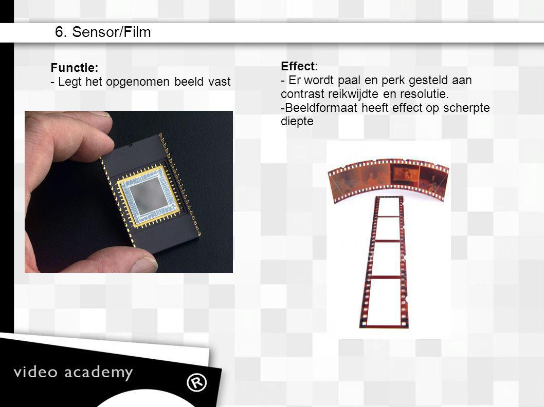 6. Sensor/Film Effect: Functie: