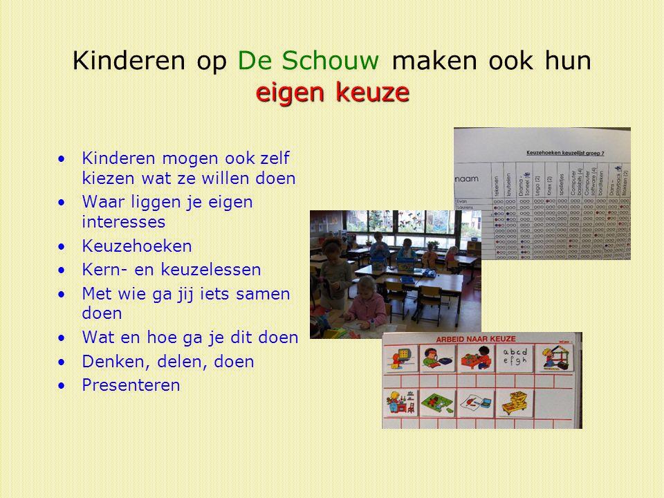 Kinderen op De Schouw maken ook hun eigen keuze