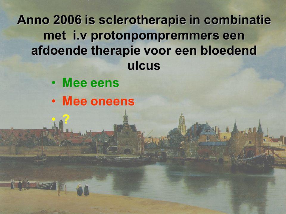 Anno 2006 is sclerotherapie in combinatie met i